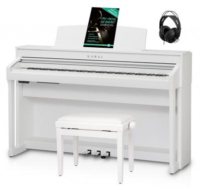 Kawai CA 78 W Digital Piano Weiß Set inkl. Pianobank, Kopfhörer & Schule