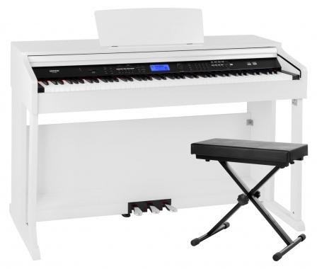 FunKey DP-2688A WM Digital Piano White Matte Bench Set