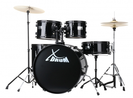 "XDrum Rookie 22"" Fusion Drum Kit Complete Set Black"