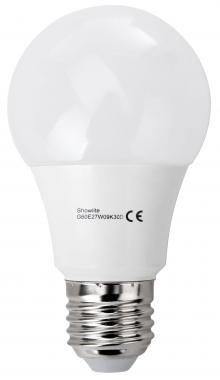 Showlite bombilla-LED G60E27W09K30D 9W, 8600 Lumen, casquillo E27, 3000 Kelvin, regulable intensidad