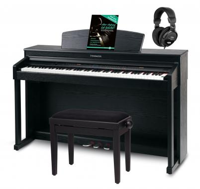 Steinmayer DP-360 SM digital piano, black matte, set including bench, headphones and instruction