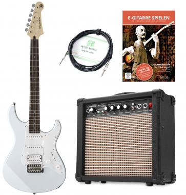 Yamaha Pacifica 012 VW E-Gitarre Set inkl. Amp + Kabel, Weiß