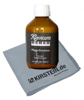Klavicura Pflegemittel für Klaviere mit Poliertuch