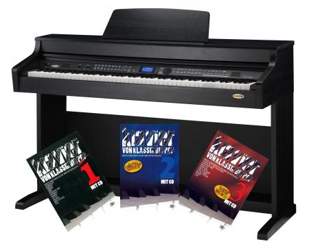 Classic Cantabile DP-A 410 SM E-Piano Schwarz Matt mit Notenheft