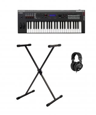 Yamaha MX49 II Music Synthesizer schwarz SET mit Stativ+ Kopfhörer