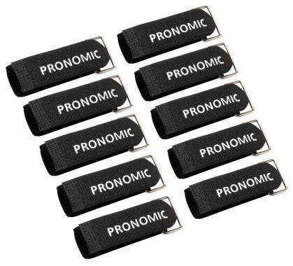 Pronomic KB-250R Velcro Cable Ties 250  with Ring mm 10-pack