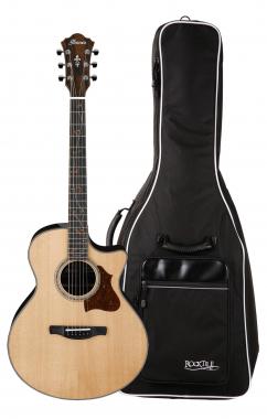 Ibanez AE315ZR-NT Westerngitarre Gigbag Set
