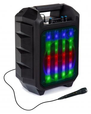 Beatfoxx OutdoorJam enceinte portable LED Bluetooth avec radio, usb, aux et microphone
