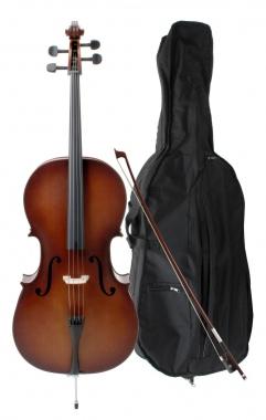 Classic Cantabile Student Cello 3/4 SET + Bow + Case
