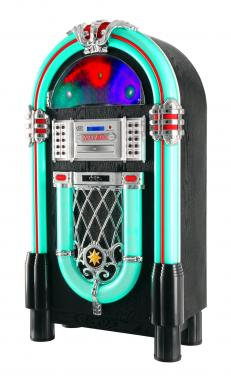 Beatfoxx GoldenAge 40er/50er Jahre Jukebox avec LP, CD, USB, lecteur MP3, radio et Bluetooth
