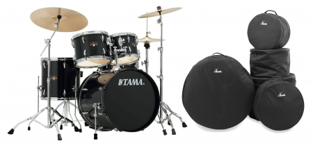 Tama IP50H6N-HBK Imperialstar Drumkit Hairline Black Set inkl. Gigbags