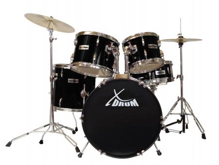 "XDrum Semi 20"" Studio Schlagzeug Komplettset Schwarz inkl. Schule + DVD  - Retoure (Zustand: gut)"