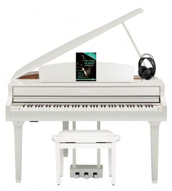 Yamaha CLP-695GP WH Digitalpiano Weiß Hochglanz Set
