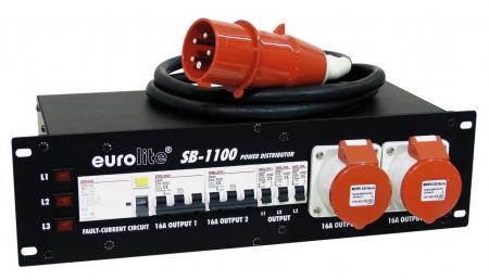 """Eurolite SB-1100 19"""" Unterverteilung 32A"""