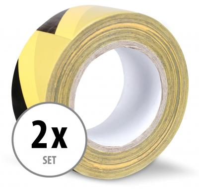 Pack of 2 Stagecaptain WT-5050BY Warning Tape 50m Black/Yellow
