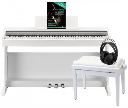 Yamaha YDP-143 WH Arius E-Piano Weiß Matt Deluxe Set