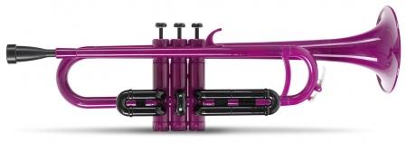 Classic Cantabile MardiBrass plastic Bb trumpet purple