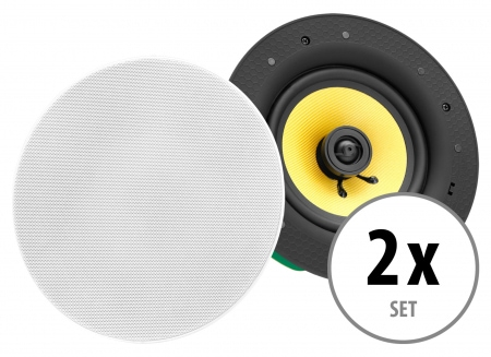 Set of 2 Pronomic CLS-880 WH 2-way high-end built-in speaker, 320 watts