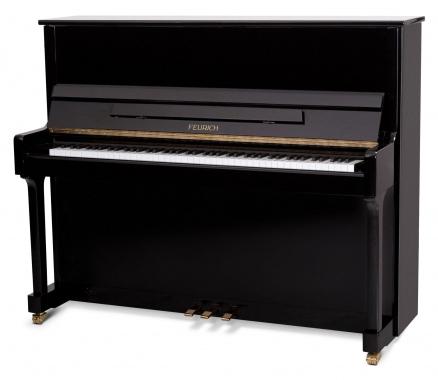 Feurich Mod. 122 Universal Silent Piano Schwarz
