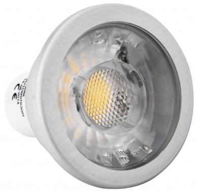 Showlite LED Spot COB GU10W07K30N 7 watts, 550 lumens, culot de l'ampoule GU10, 3000 kelvins