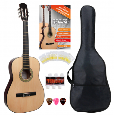 Classic Cantabile Acoustic Series AS-851 7/8 Konzertgitarre Starterset  - Retoure (Zustand: sehr gut)
