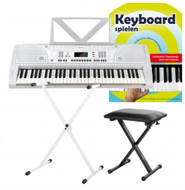 FunKey 61 Keyboard SET white  incl. keyboard stand, bench
