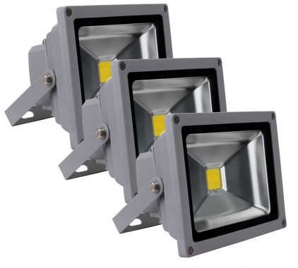 Showlite FL-2020 LED Fluter IP65 20 Watt 2200 Lumen 3er SET