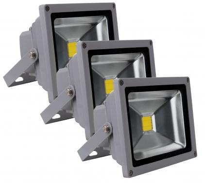 Showlite FL-2020 LED faretto IP65 20 Watt 2200 Lumen SET 3 pezzi