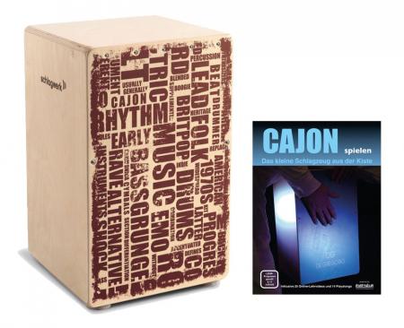 "Schlagwerk CP 130 Cajon X-One ""Styles"" SET inkl. Cajonschule"