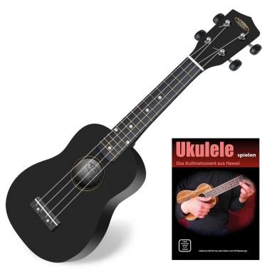Classic Cantabile Soprano US-100 BK Ukulélé noir