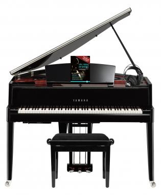 Yamaha N3X Hybrid Digitalflügel schwarz im SET mit Pianobank, Kopfhörer & Noten
