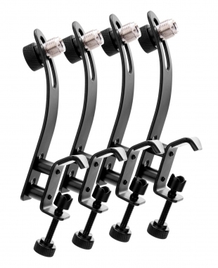 4x SET Pronomic DMK-10 Pince de Microphone pour Batterie