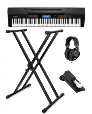 Classic Cantabile SP-250 BK Stage Piano black SET incl. stand, headphones and pedal