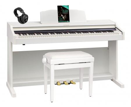 Roland RP501R-WH Digitalpiano weiss SET +  Bank, Kopfhörer, Noten