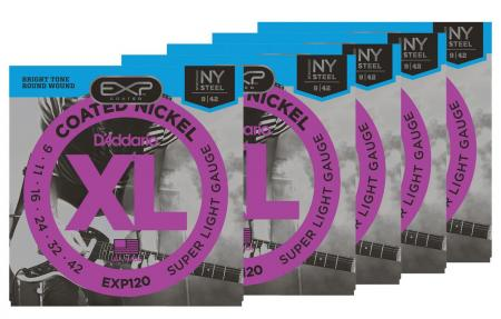 D'Addario EXP120 Super Light - 5er Pack