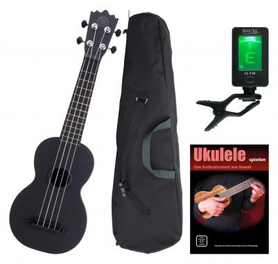 Classic Cantabile BeachBuddy Blackbird Ukulele, set incl. Tuner