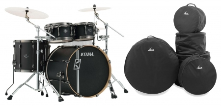 Tama ML42HLZBN-FBK Superstar Maple Drumkit Flat Black Set inkl. Gigbags