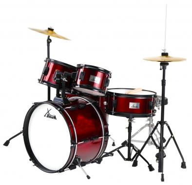 XDrum Junior Pro II Wine Red Kid's Drum Set