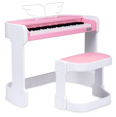 FunKey DP-49 Keyboard con 49 tasti design come da pianoforte digitale, rosa