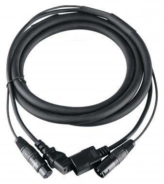 Pronomic Stage IECD-2.5 DMX cable híbrido C/DMX 2,5 m