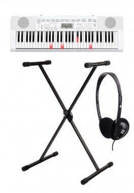 Casio LK-247 Leuchttasten Keyboard SET mit Ständer und Kopfhörer