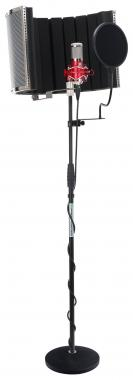 Pronomic CM-100Rlarge membrane microphone complete set incl. stand, pop filter, mic screen & cable