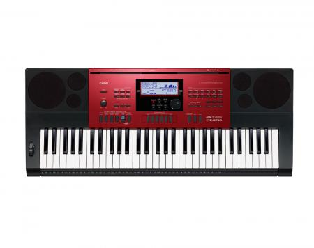 Casio CTK-6250 High-Grade-Keyboard 61 Tasten, MP3, schwarz-rot
