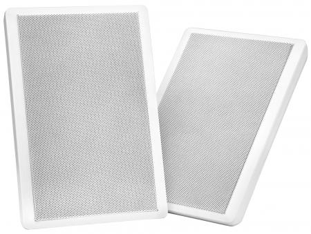Pareja de altavoces Pronomic FLS-540 WH planos para pared en blanco 160 Watt