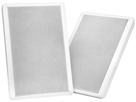 Pronomic FLS-540 WH Pair of Flat Panel Wall Speakers, white, 160 watts