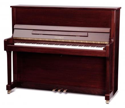 Feurich Mod. 122 Universal Silent Piano Bordeaux