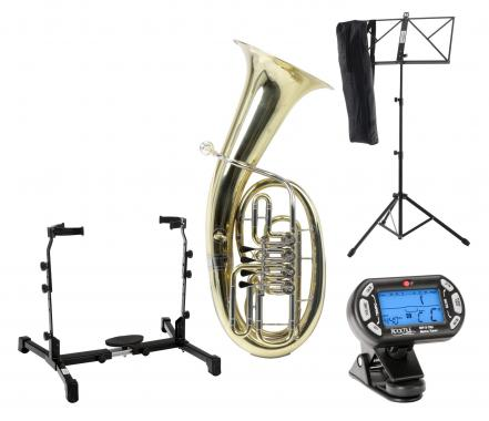 Classic Cantabile Brass B-3146 Baritone SET with baritone stand, tuner and music stand