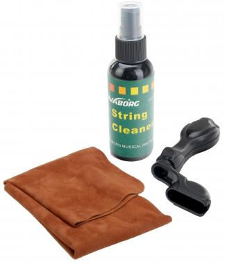 Rocktile GPS-3 Guitar Care Set: String Cleaner, Cloth & Peg Winder