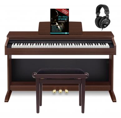 Casio Celviano AP-270 BN Digitalpiano braun Set inkl. Bank, Kopfhörer & Schule
