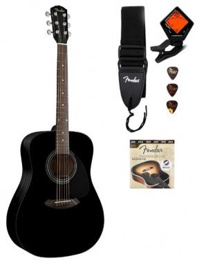 Fender CD-60 (Black Sonokeling) + originele Fender toebehoren